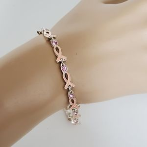 "Avon Breast Cancer Awareness 7- 8""  Bracelet"